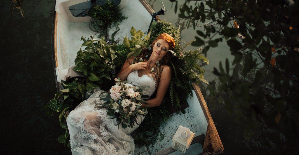 boat bridal photos