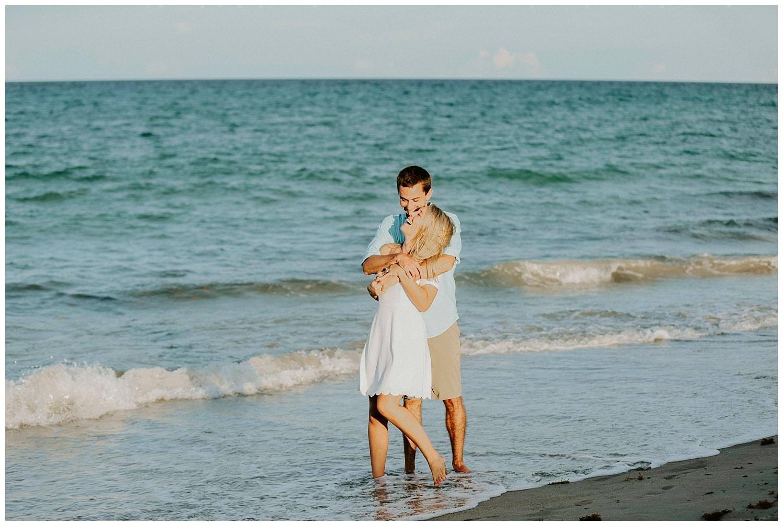 hutchinson island beach engagement
