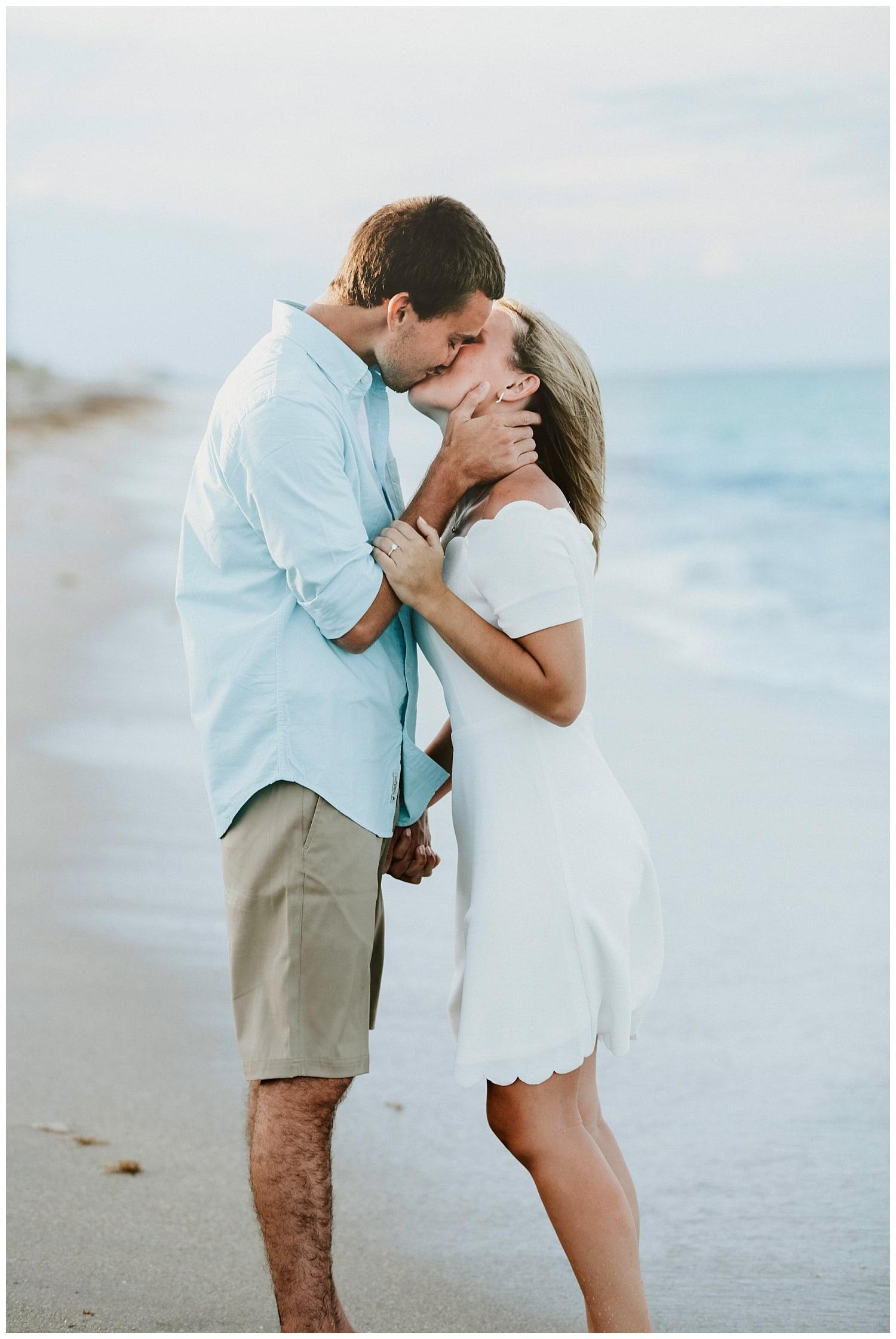 florida beach engagement