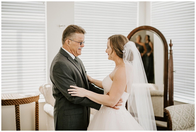 bride's dad first look