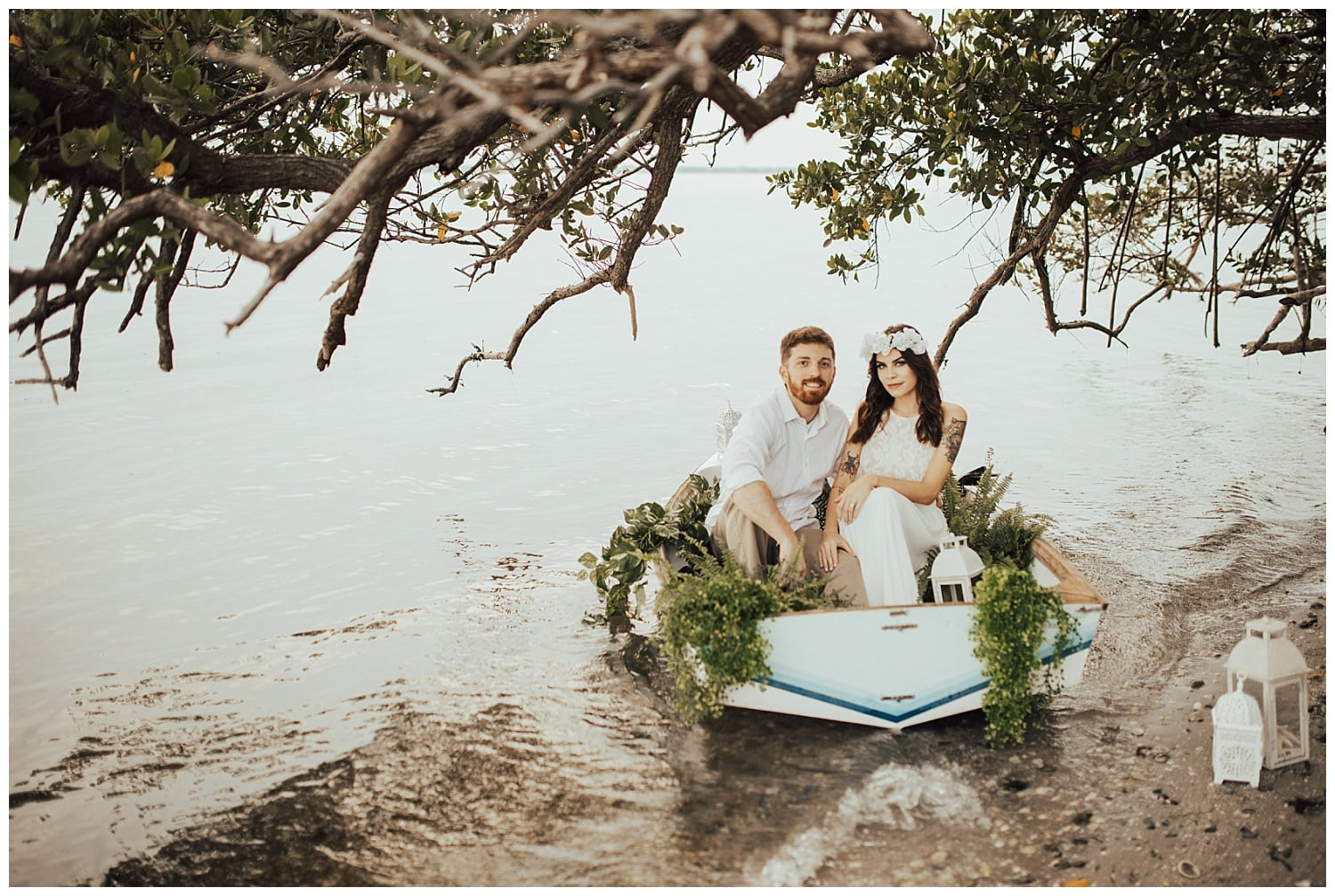 boat engagement photos