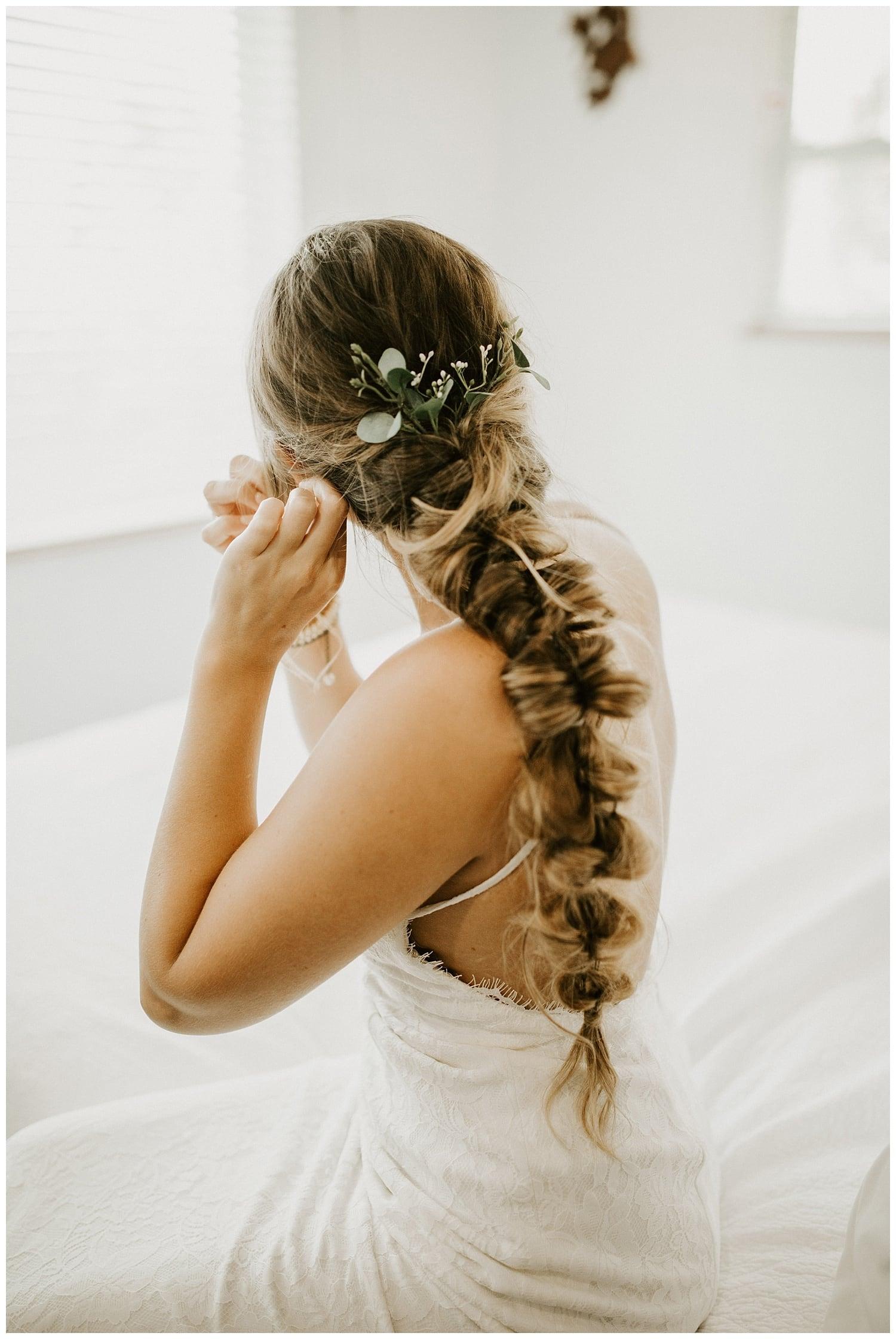 Jensen Beach Wedding Photographer bridal braid