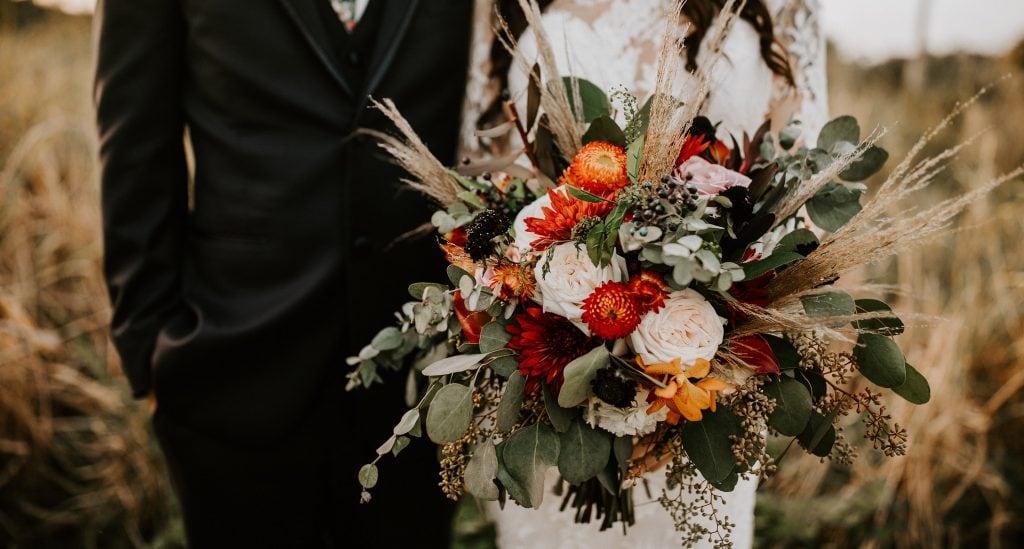 rustic bohemian wedding bouquet