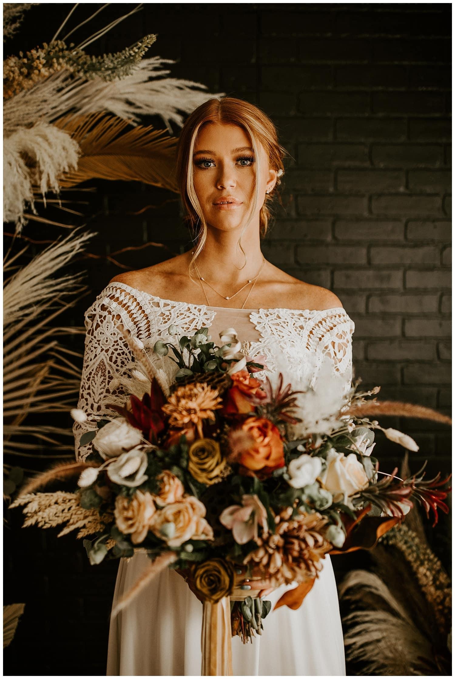 Fall Colors Bohemian Bridal Photos Meagan Puett