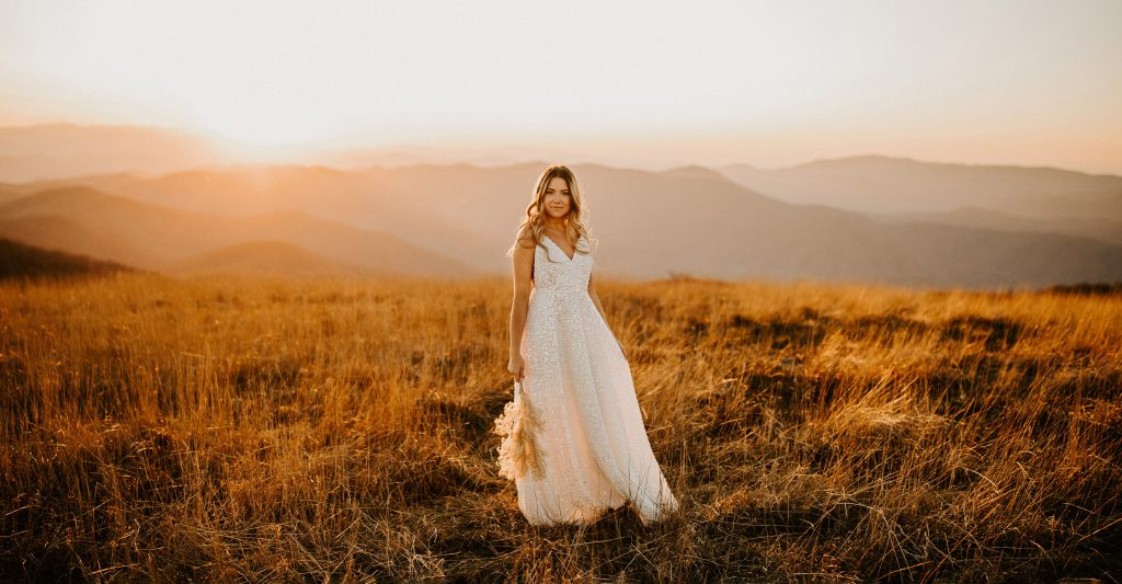 Big Bald Mountain Bridal Portraits
