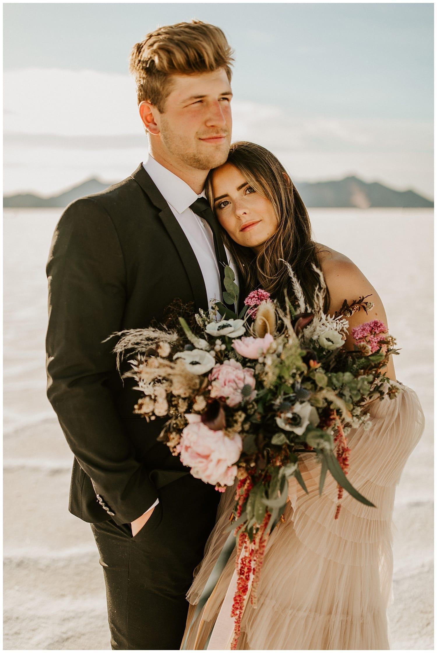 bonneville salt flats elopement, salt flats photography, utah wedding photographers