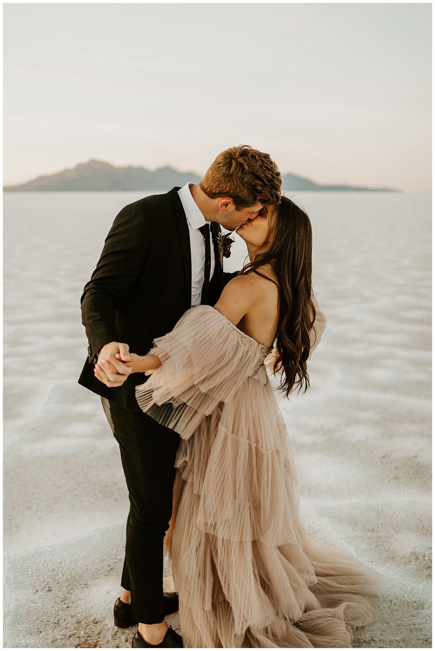 bonneville salt flats elopement, photographers in salt lake city, utah wedding photographers
